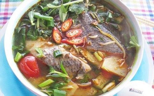 Cá chẽm nấu canh chua
