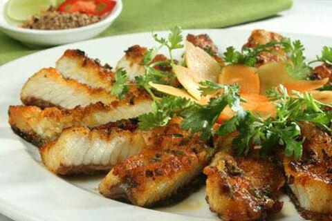 Cá trắm đen nướng