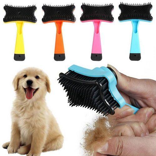 Lược chải lông cho chó có nút bấm
