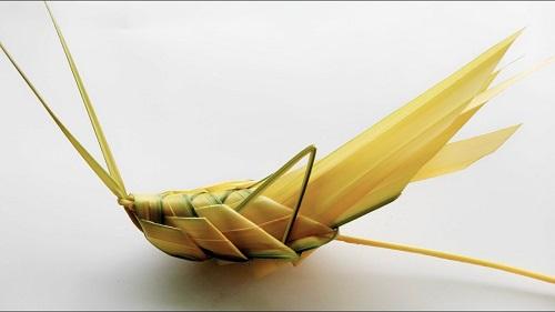 cách làm cào cào bằng lá dừa