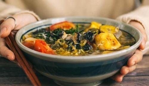 Ốc bươu vàng nấu chuối xanh