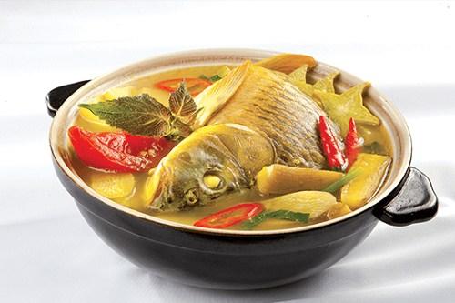 Cá khế om dưa