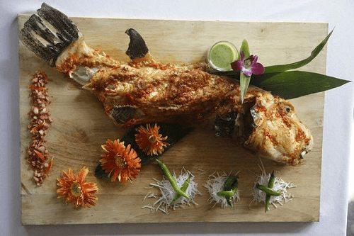 Cá mặt thỏ nướng