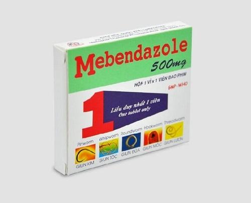 Thuốc tẩy giun Mebendazol cho chó